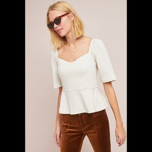 NWOT Porridge Ivory Sweetheart Top Anthropologie